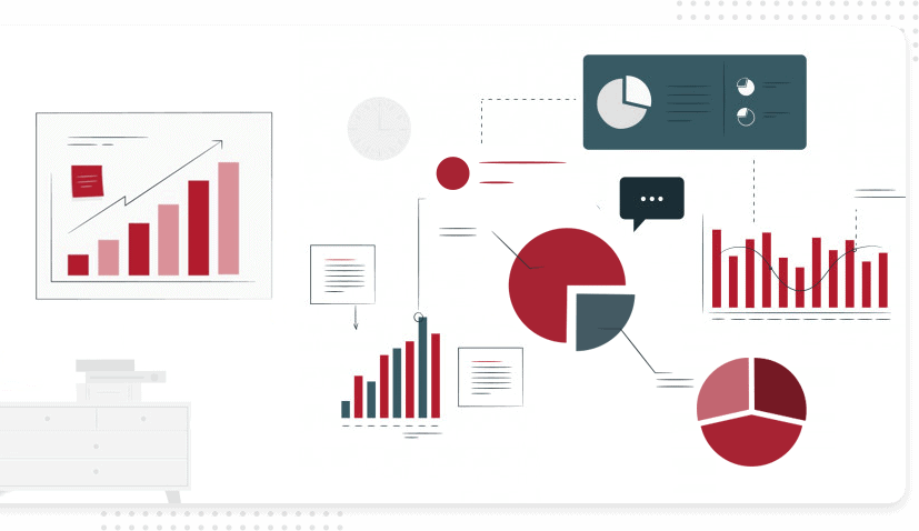 SF | Dashboard View 2 | Pie Charts | SF Red | 827 X 478 px